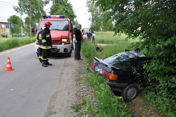 Wypadek w Łajscach. Fot. terazJaslo.pl / Damian Palar