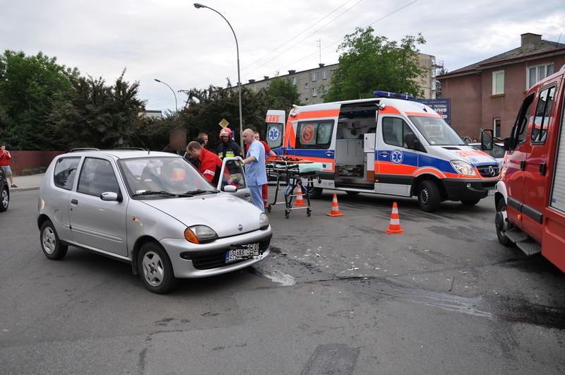 Wypadek na Szkolnej. Fot. terazJaslo.pl / Damian Palar