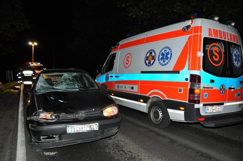 Wypadek śmiertelny w Szebniach. Fot. terazJaslo.pl / Damian Palar
