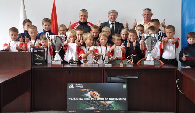 Spotkanie piłkarzy z burmistrzem miasta Jasła