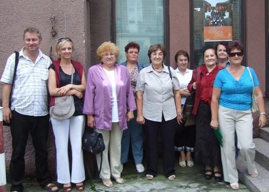 Uczestnicy spotkania klubu Michalina w muzeum