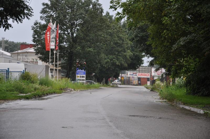 Ulica Żeromskiego w Jaśle