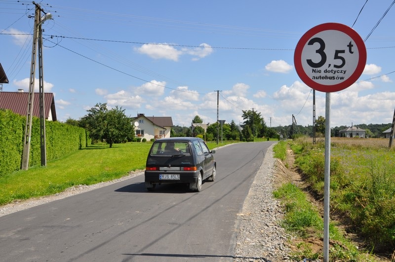 Zakończona inwestycja na drodze powiatowej
