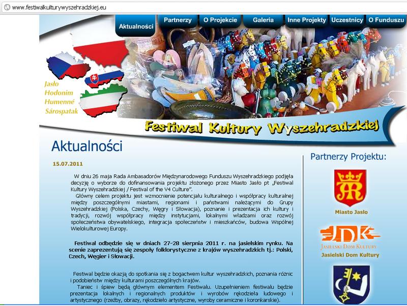 Strona internetowa Festiwalu