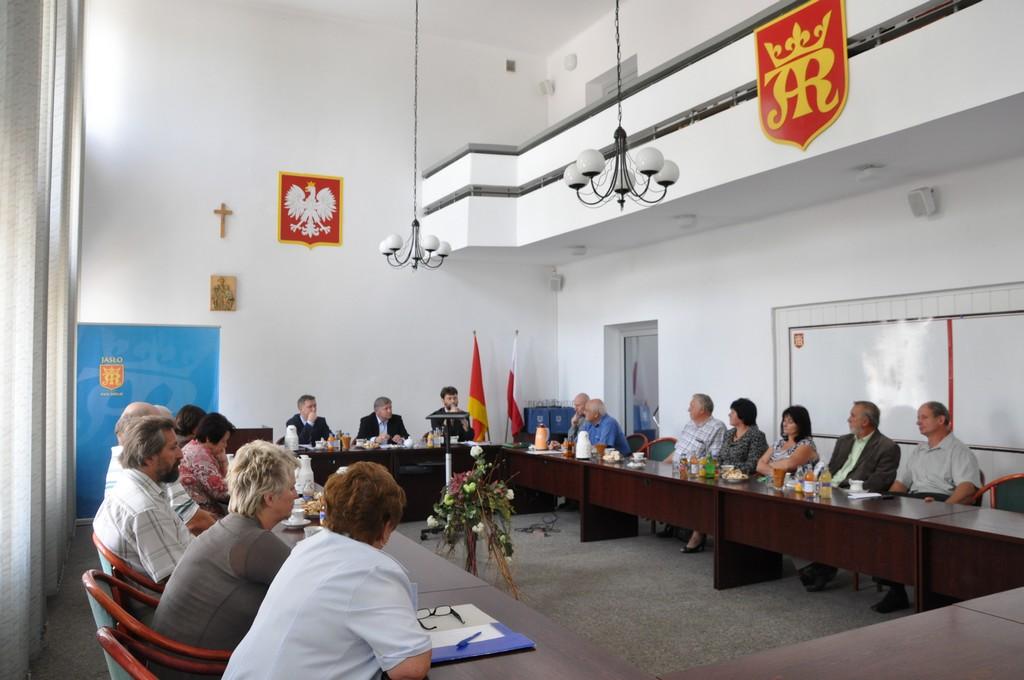 Spotkanie przewodniczących Zarządów Osieli z burmistrzem Jasła