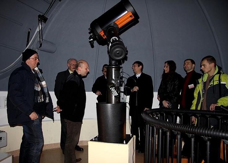 Spotkanie z krótkofalowcami w obserwatorium astronomicznym przy I LO