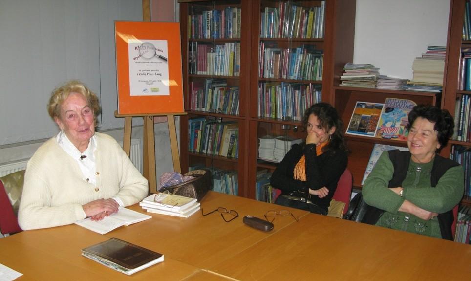 Spotkanie z Zofią Pilat-Lang