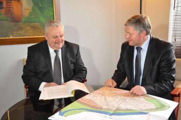 Spotkanie burmistrza z marszałkiem województwa