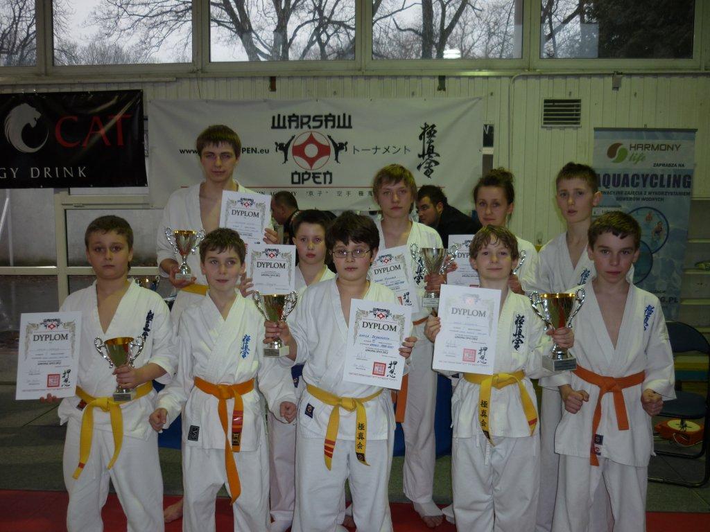 Zawodnicy Jasielskiego Klubu Kyokushin Karate