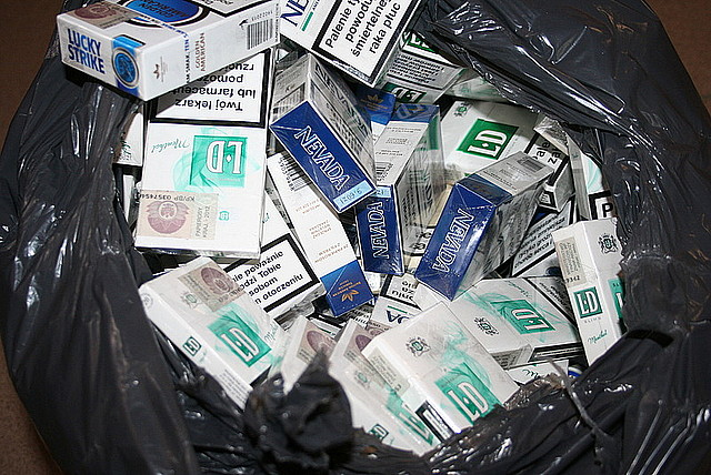 Zabezpieczone papierosy