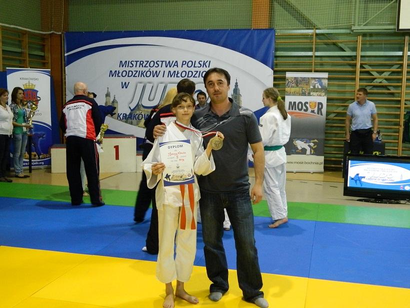 Joasia Nocula z trenerem Przemysławem Czarneckim