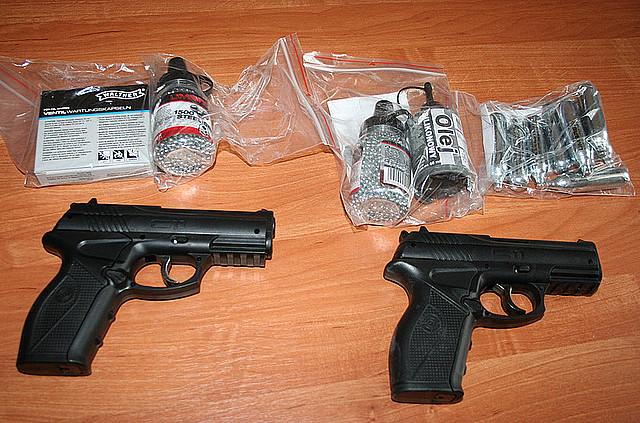 Zabezpieczona broń