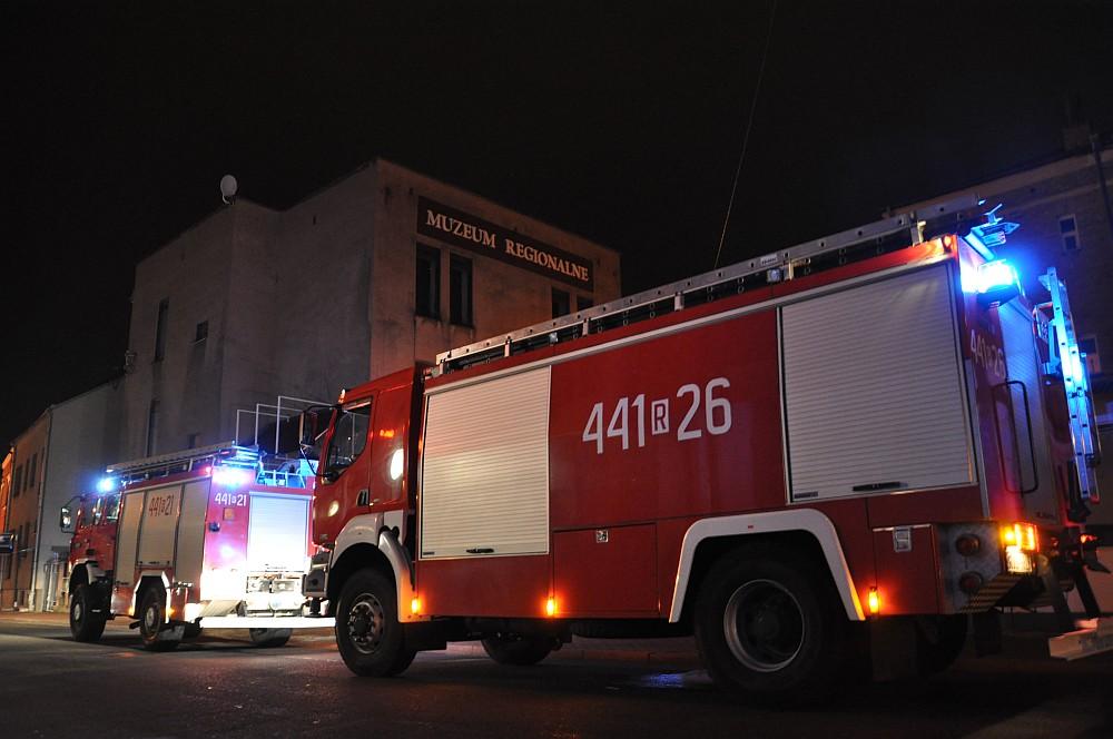 Fałszywy alarm pożarowy w muzeum