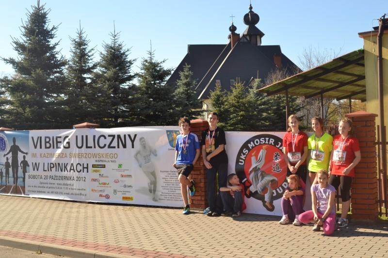Zawody biegowe w Lipinkach z udziałem UKS MOSiR Judo Jasło