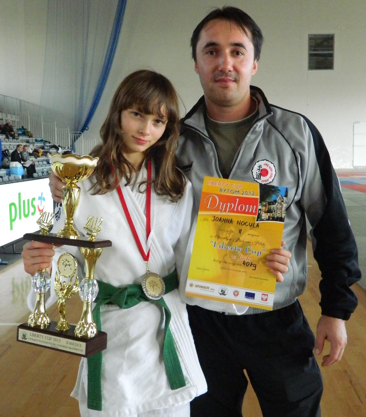 Asia Nocula z trenerem Przemysławem Czarneckim