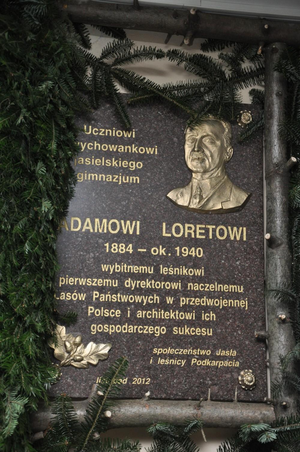 Odsłonięcie tablicy pamiątkowej poświęconej Adamowi Loretowi