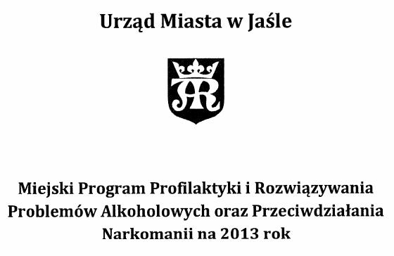 Miejski Program Profilaktyki na 2013 rok