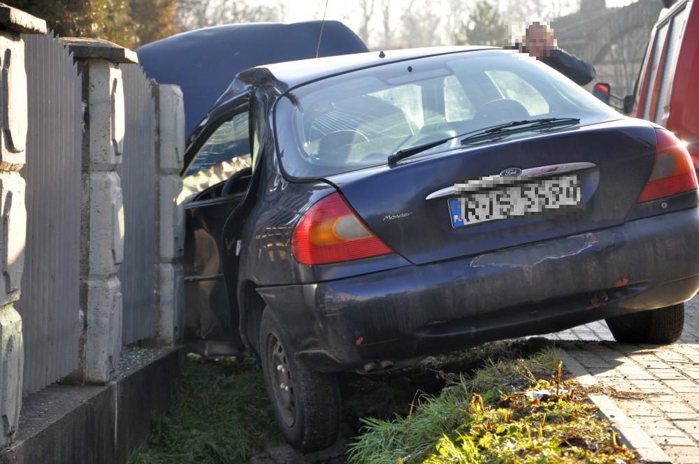 Zdarzenie drogowe w Bieździedzy