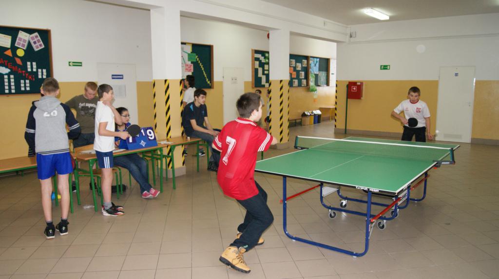Turniej tenisa stołowego w Sieklówce