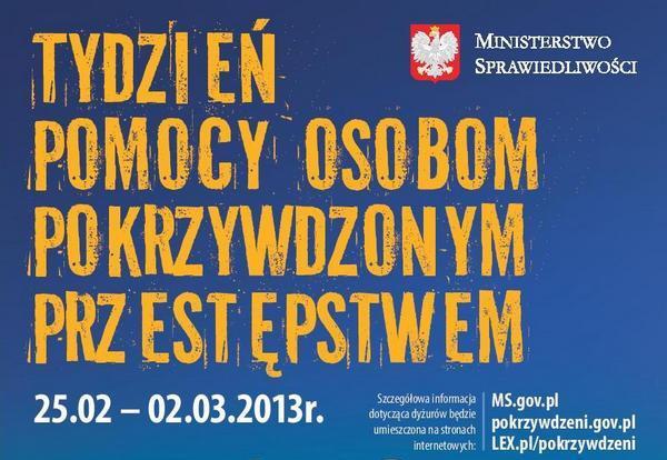Tydzień Pomocy Ofiarom Przestępstw 2013