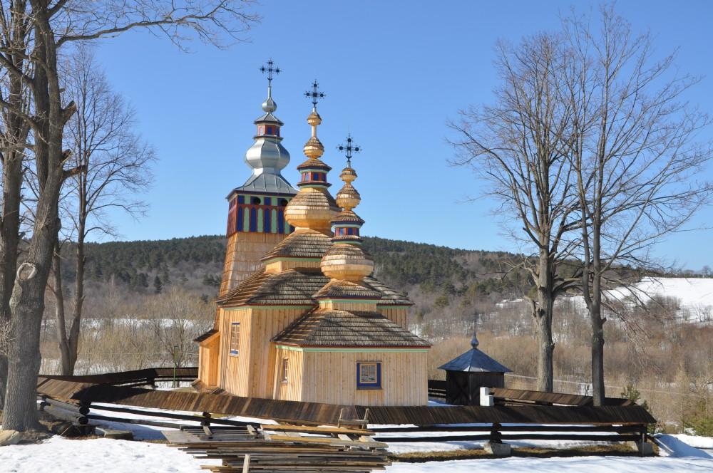 Dawna cerkiew prawosławna w Świątkowej Małej koło Krempnej