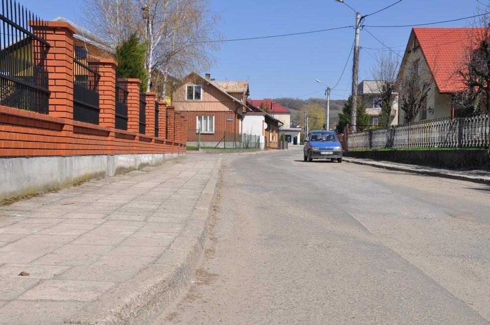 Ulica Szewska w Kołaczycach przed remontem