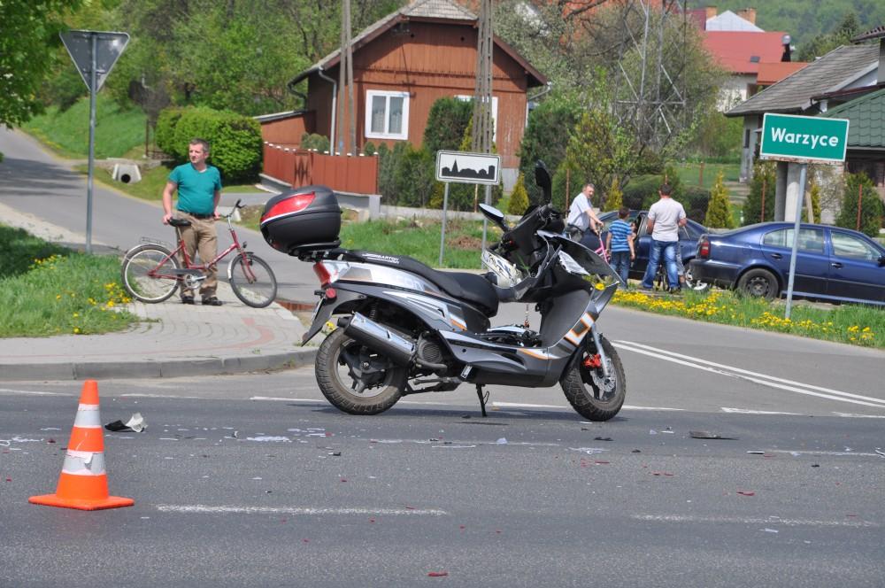 Kolizja na DK28 w Jaśle
