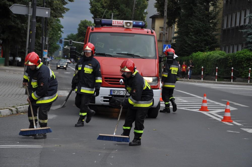 Wypadek na 3-go Maja w Jaśle