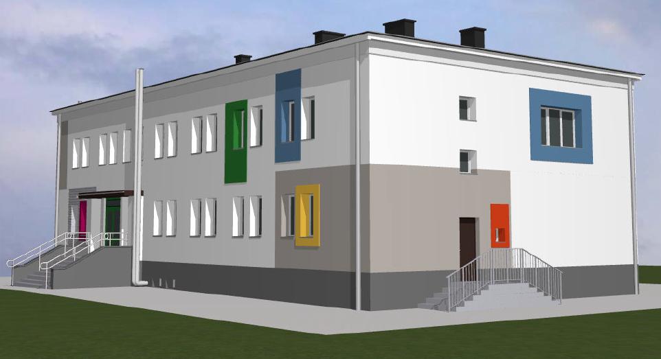 Tak wyglądałby budynek przedszkola po termomodernizacji