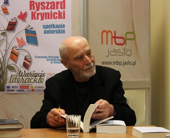 Spotkanie autorskie z Ryszardem Krynickim