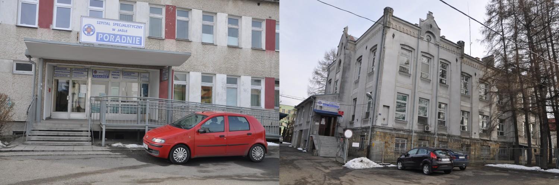 Poradnie specjalistyczne przy ulicy Szopena i oddział psychiatryczny miałyby zostać przeniesione do nowych budynków przy ulicy Lwowskiej. Fot. © terazJaslo.pl / DAMIAN PALAR