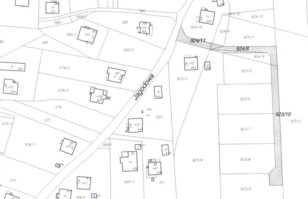 Mapa lokalizacji nowej ulicy