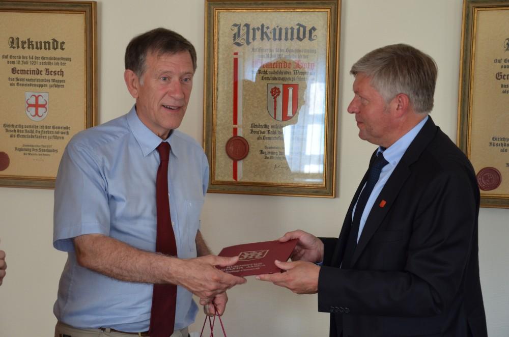 Spotkanie z burmistrzem Perl Bruno Schmittem. Fot. © Jasielskie Stowarzyszenie Winiarzy
