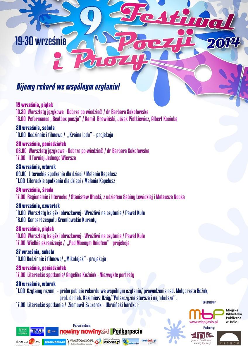 9 Festiwal Poezji i Prozy