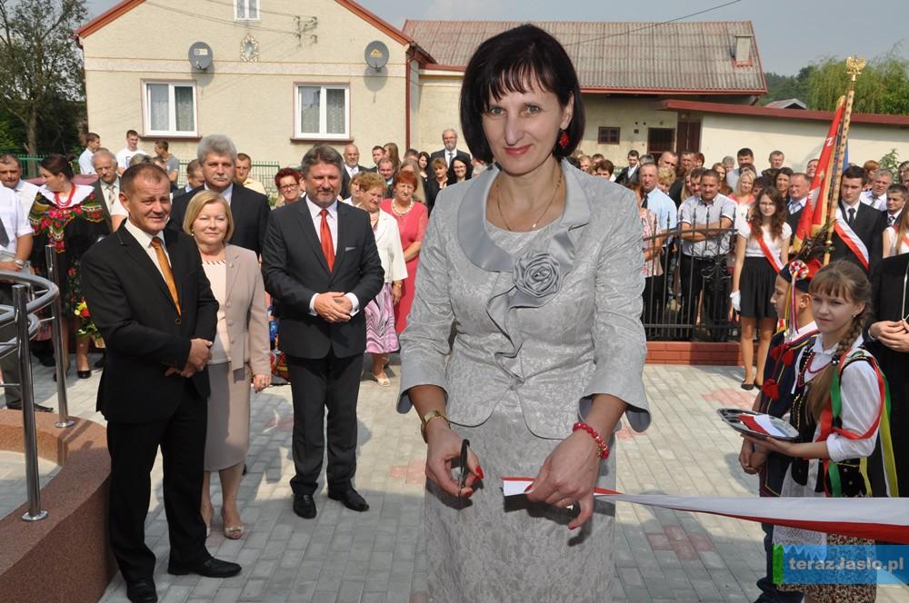 Dyrektor Szkoły Podstawowej im. Marii Konopnickiej w Zawadce Osieckiej Irena Baciak. Fot. © terazJaslo.pl / DAMIAN PALAR