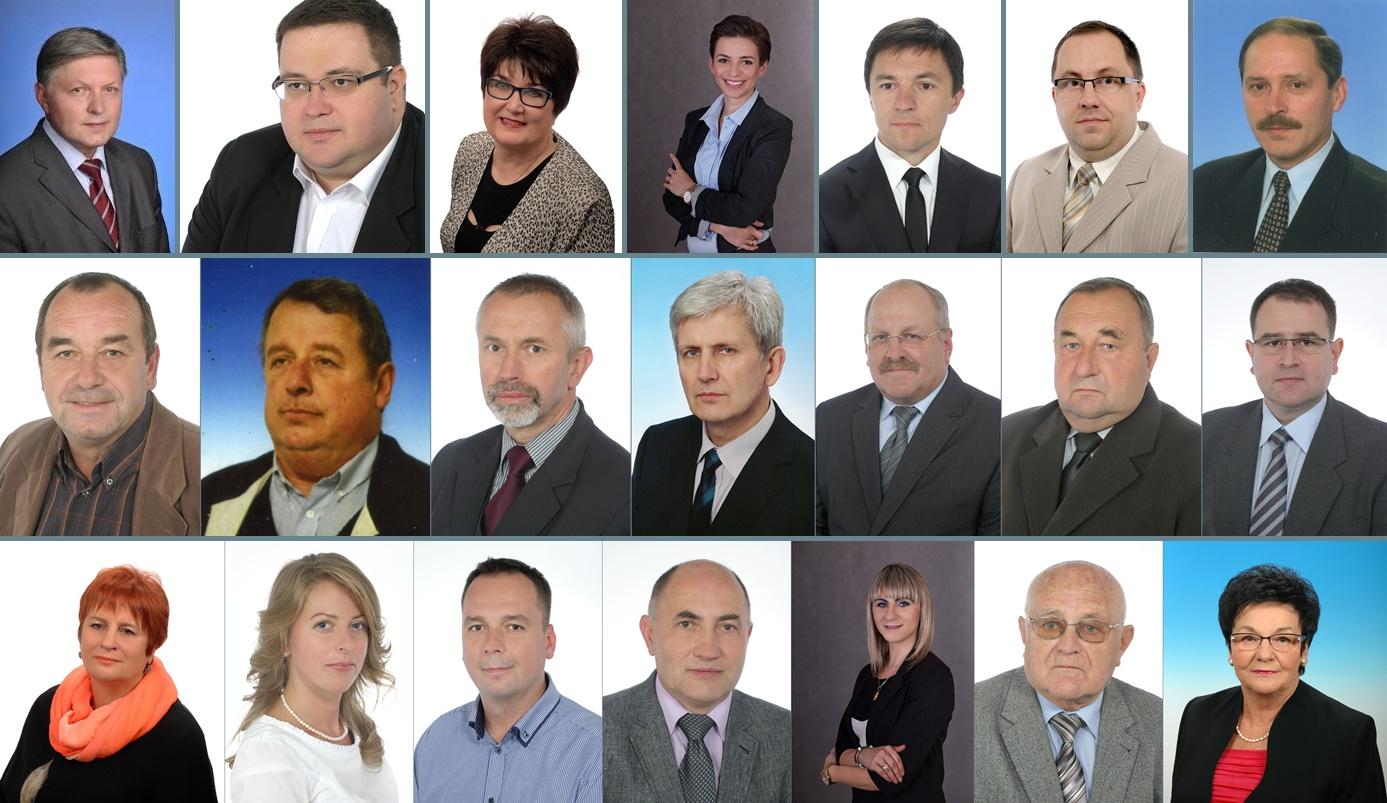 """Komplet kandydatów """"Jaślan"""" do Rady Miejskiej VII kadencji. Fot. © facebook.com (KWW Jaślanie)"""