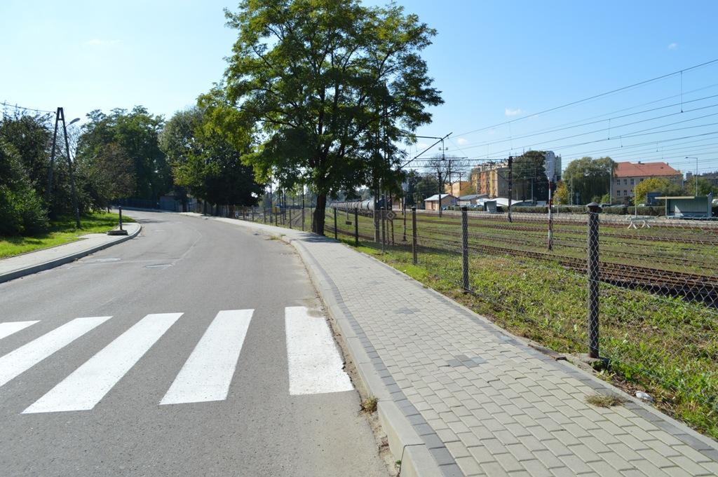 Chodnik przy ulicy Grunwaldzkiej
