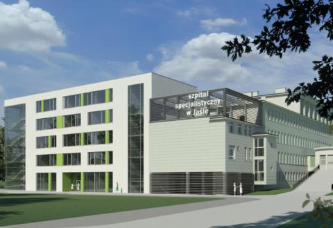 © Wizualizacja rozbudowy Szpitala Specjalistycznego w Jaśle