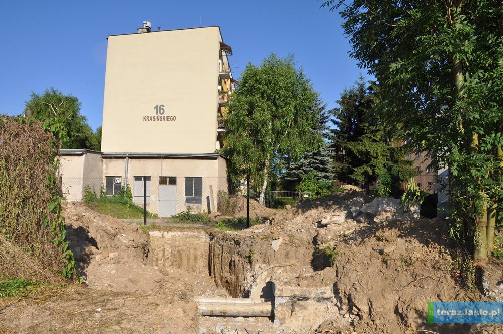 Wykop między ulicą Krasińskiego, a Skłodowskiej-Curie
