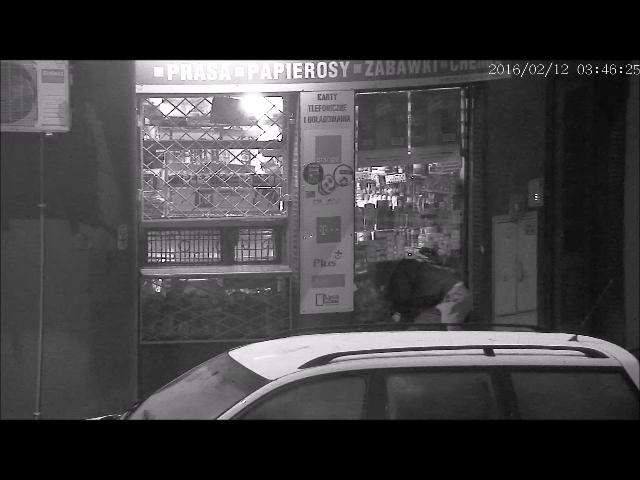 Kadr z miejskiego monitoringu. © Policja