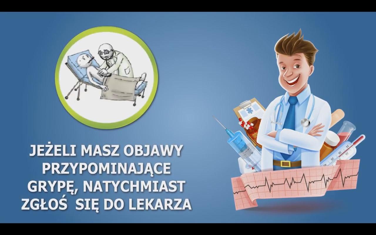 """© zrzut ekranowy ze spotu kampanii """"Nie daj się grypie!"""""""