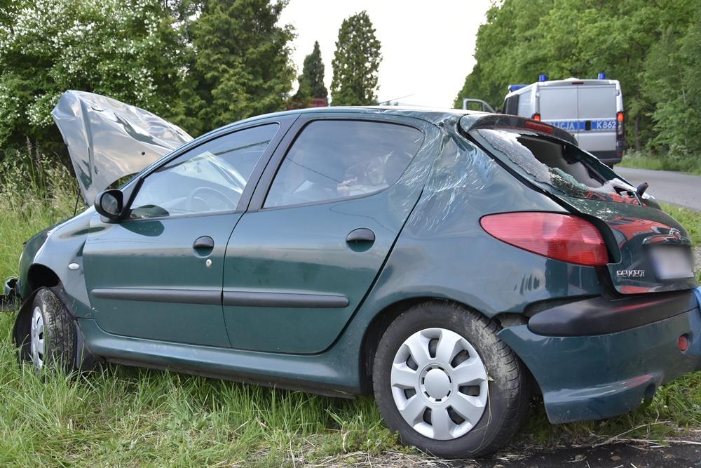 Wypadek w Cieklinie (29.05). Fot. © terazJaslo.pl / Damian PALAR