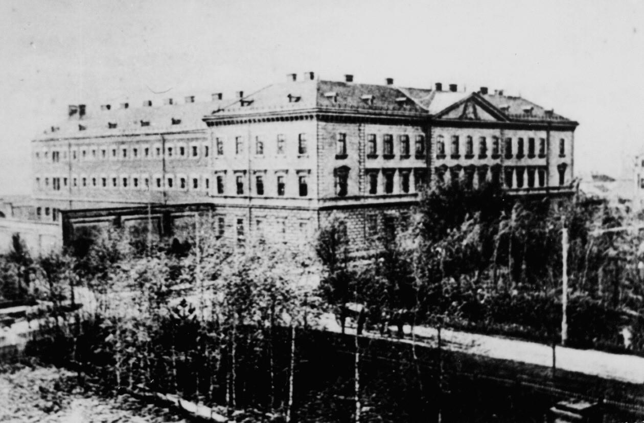 Archiwalna fotografia dawnego jasielskiego więzienia.