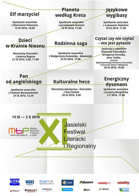 XI Jasielski Festiwal Literacki i Regionalny