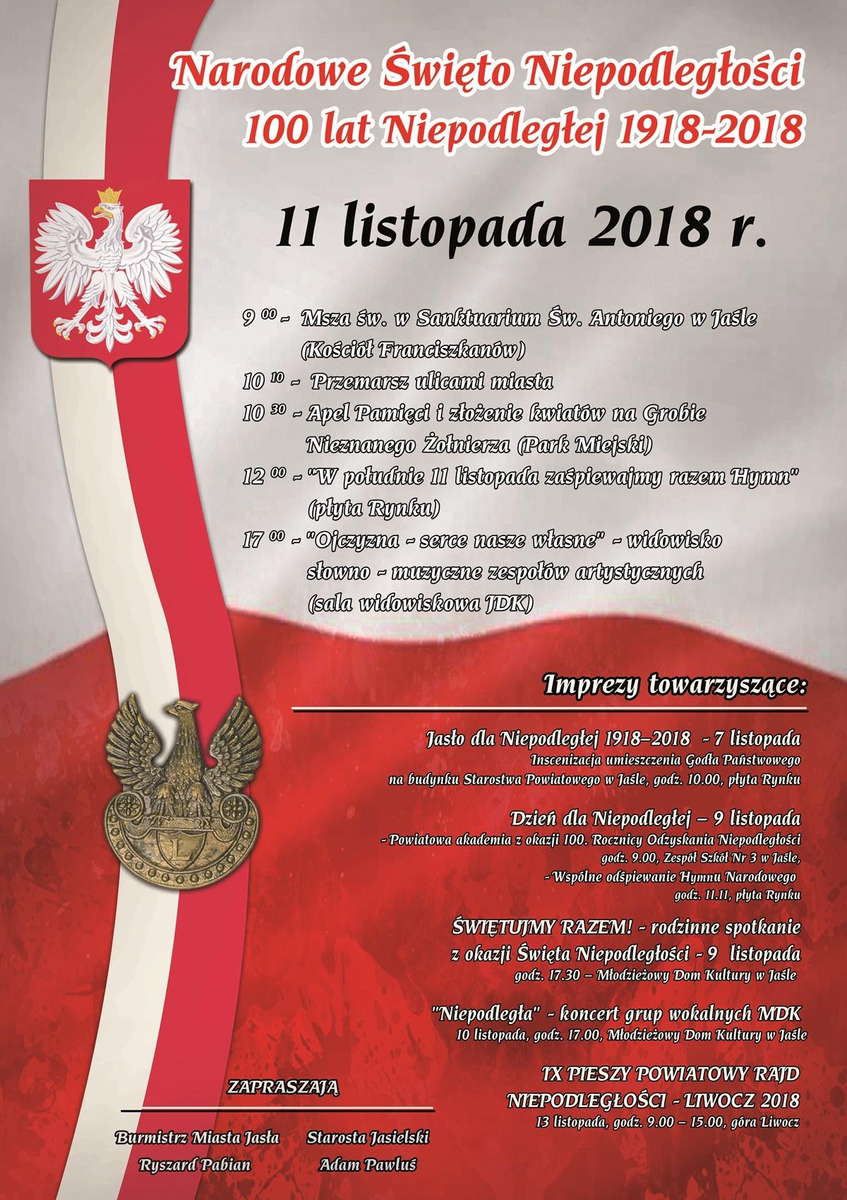 Narodowe święto Niepodległości 2018 W Jaśle Terazjaslopl
